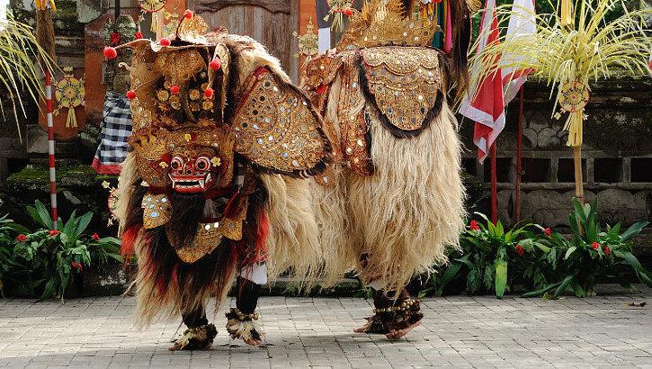 Barong in Tanzvorführung auf Bali