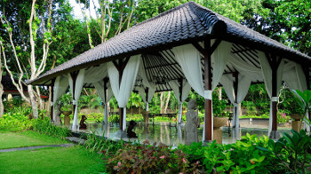 Pavillon eines Hotels auf Bali