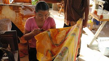 Batikherstellung auf Bali