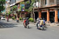 Strasse in Denpasar, Bali