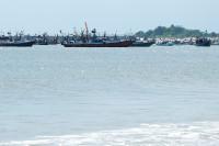 Fischerboote vor Jimbaran, Bali