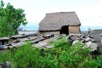Meersalzgewinnung bei Fähre in Padang Bai, Bali
