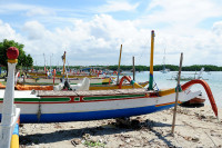 Fischerboote auf der Pulau Serangan, Bali