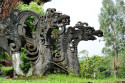Steinmetzkunst im Pura Besakih, Bali