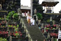Zeremonie im Pura Besakih, Bali