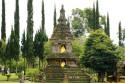 Stupa im Pura Ulun Danu Bratan, Bali