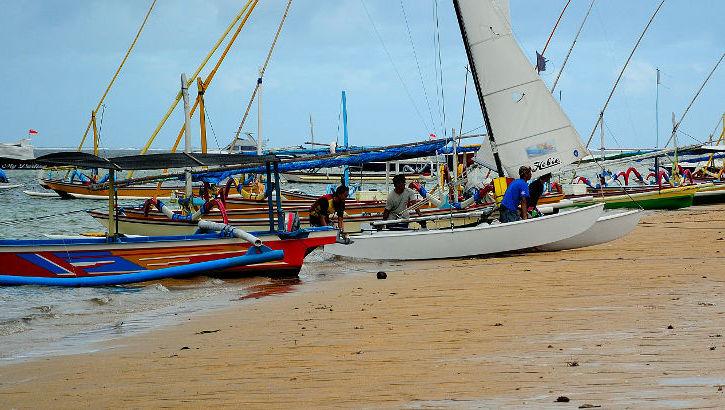 Strand von Sanur, Südbali