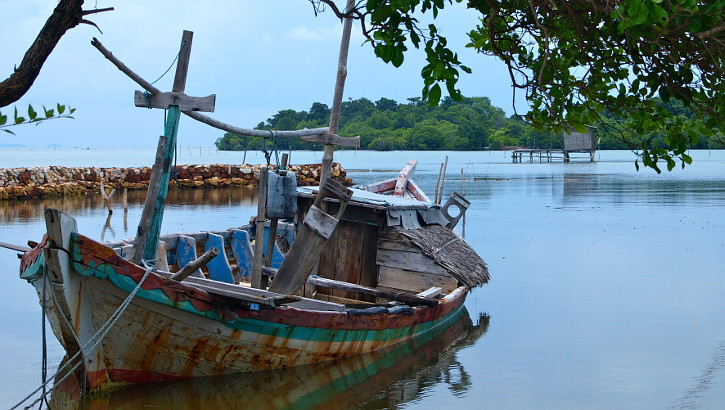Boot vor den Karimunjawa Inseln