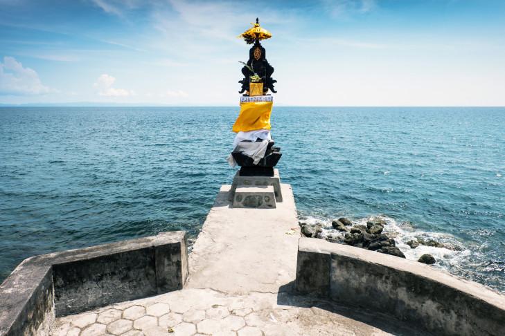 Pura Batu Bolong Tempel, Senggigi, Lombok, Indonesien