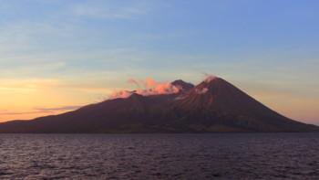 Der Vulkan Tambora auf Sumbawa, Indonesien