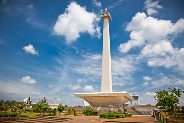 Nationaldenkmal Monumen Nasional Monas, Jakarta, Java, Indonesien