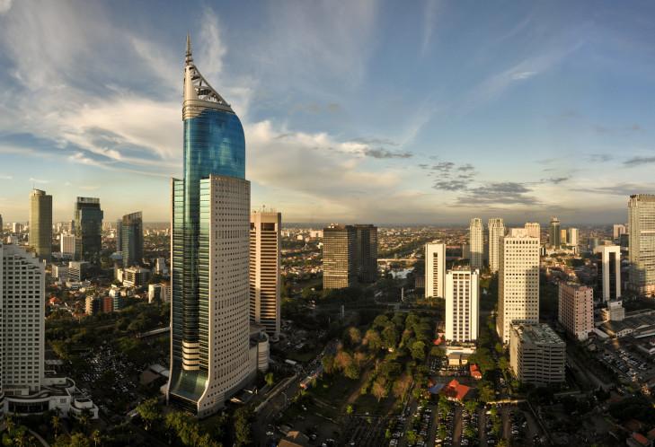 Skyline von Jakarta, Java, Indonesien